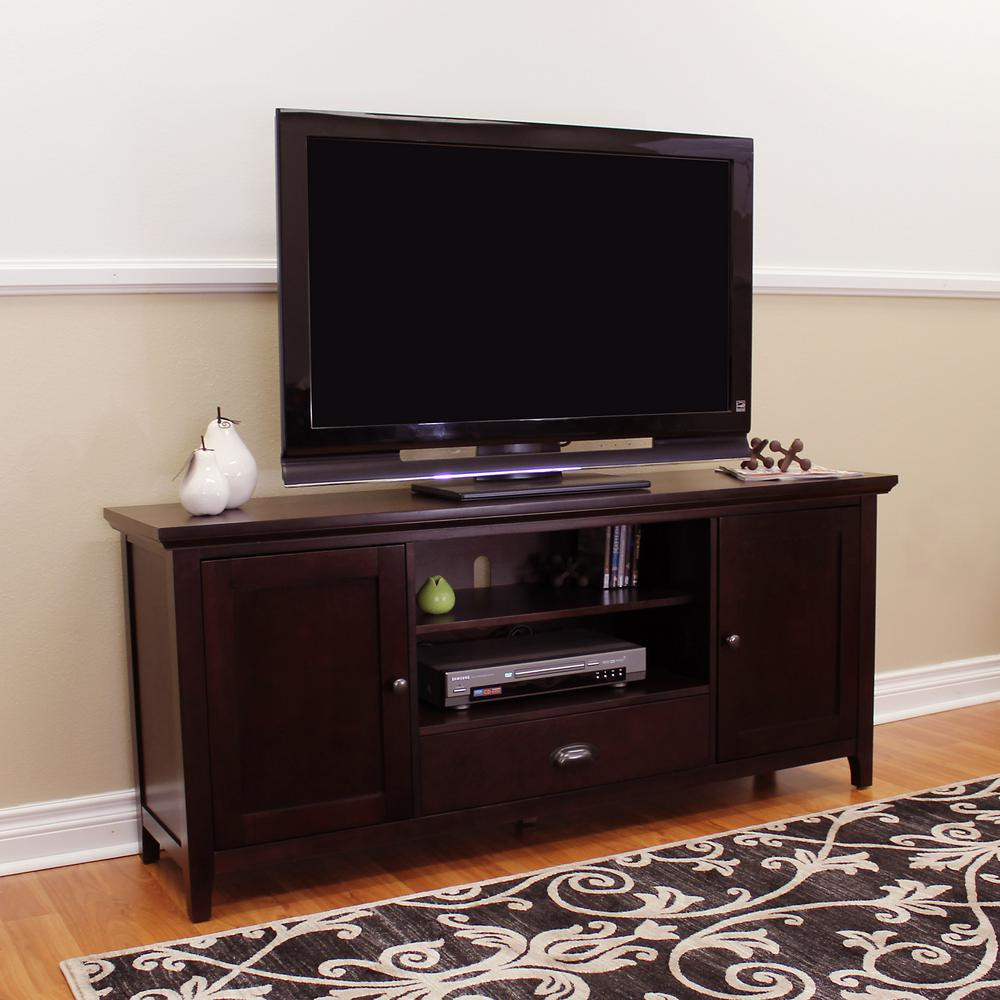 Donnieann Lindendale Espresso Tv Stand 710127 The Home Depot