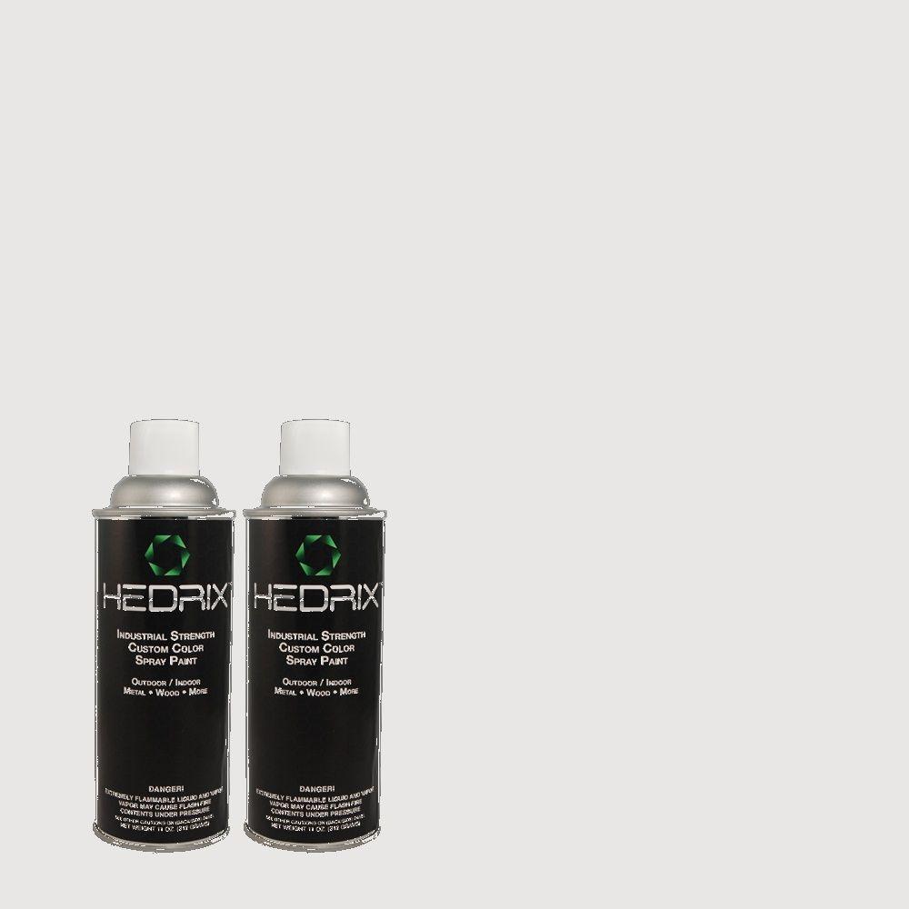 Hedrix 11 oz. Match of MQ3-31 Dutch White Low Lustre Custom Spray Paint (2-Pack)