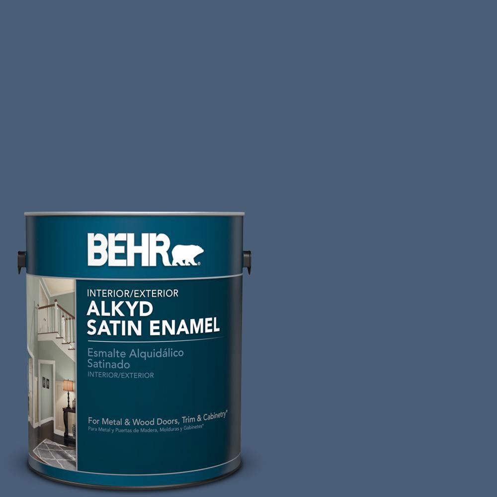 1 gal. #BIC-52 Loyalty Satin Enamel Alkyd Interior/Exterior Paint