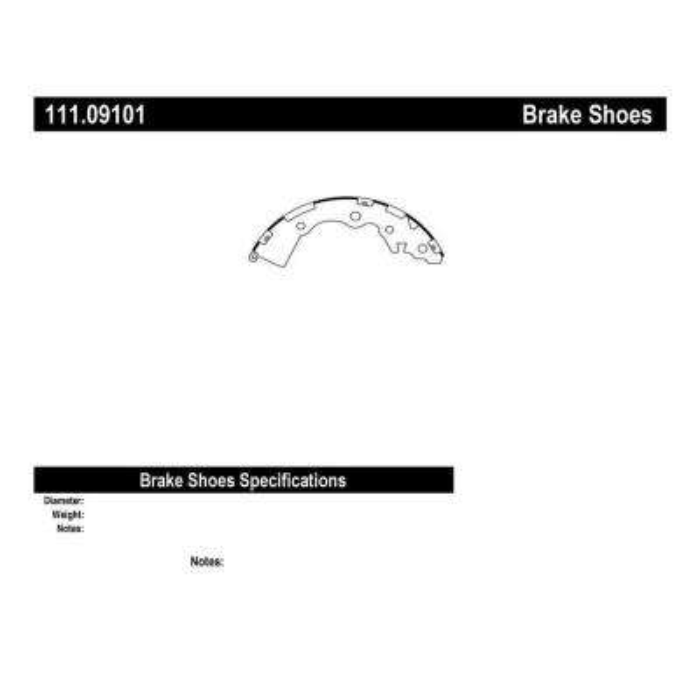 Rear Premium Brake Shoes-Preferred fits 2006-2011 Kia Rio,Rio5