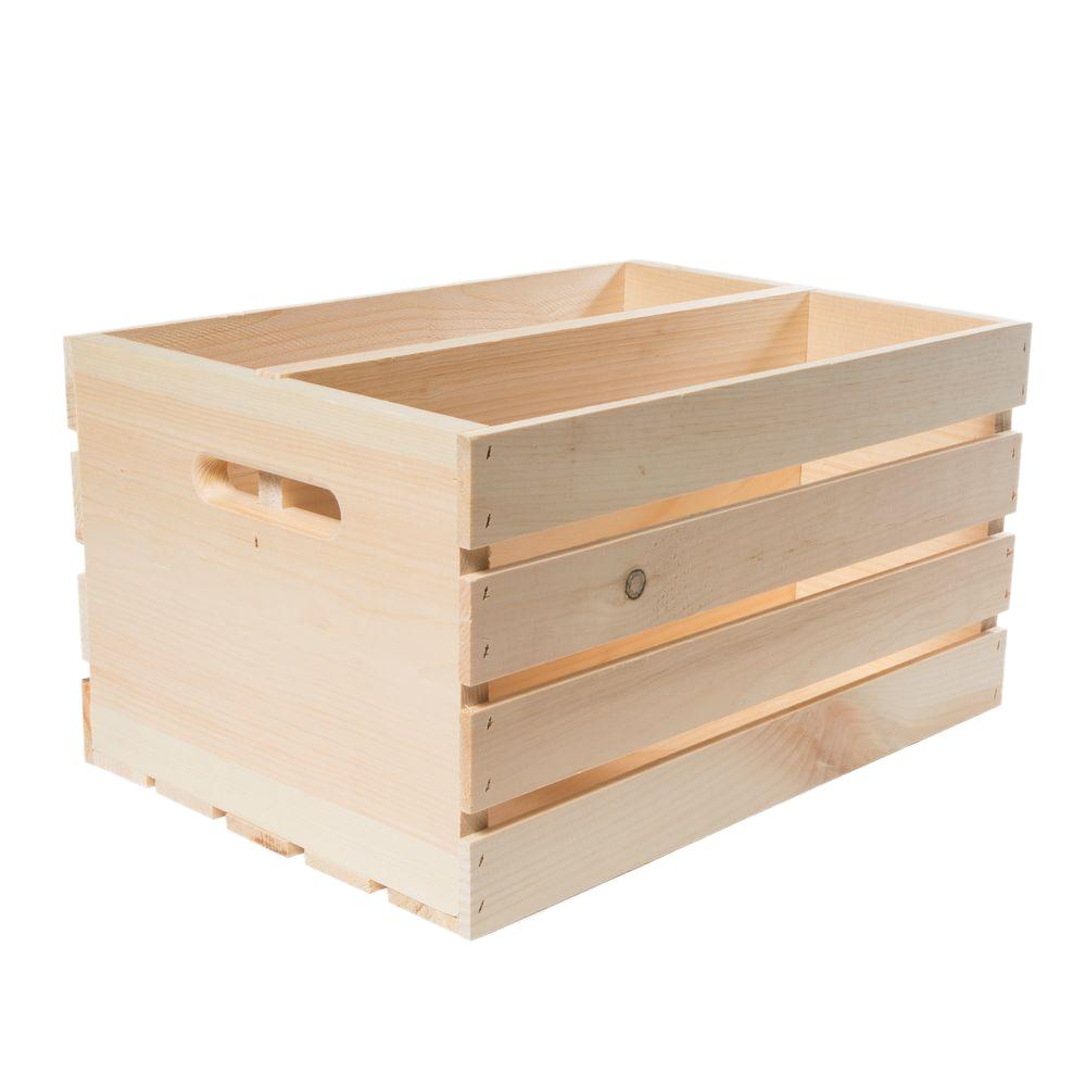 18 in. x 12.5 in. x 9.5 in. Divided Crate