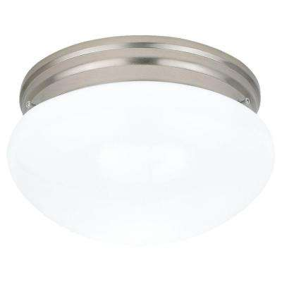 Webster 2-Light Brushed Nickel Flush Mount