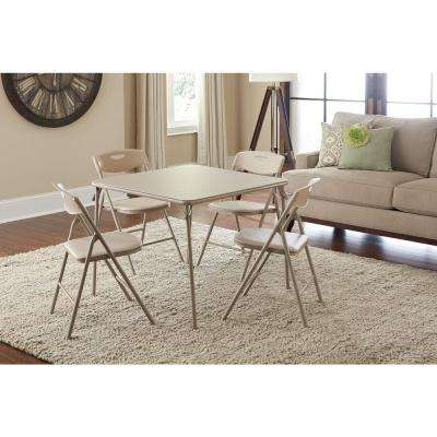 5-Piece Antique Linen Folding and Chair Set