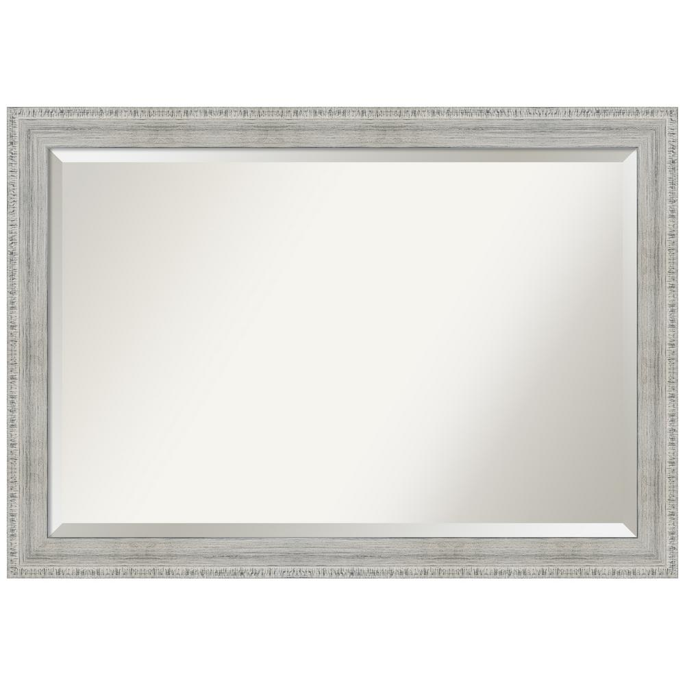 Amanti Art Rustic White Wash 40.38 in. x 28.38 in. Decorative Wall Mirror was $339.95 now $169.97 (50.0% off)