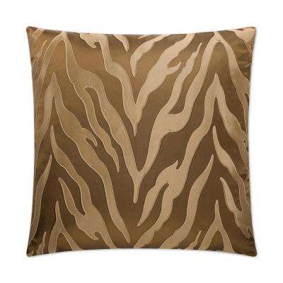 Blaze Feather Down 24 in. x 24 in. Standard Decorative Throw Pillow