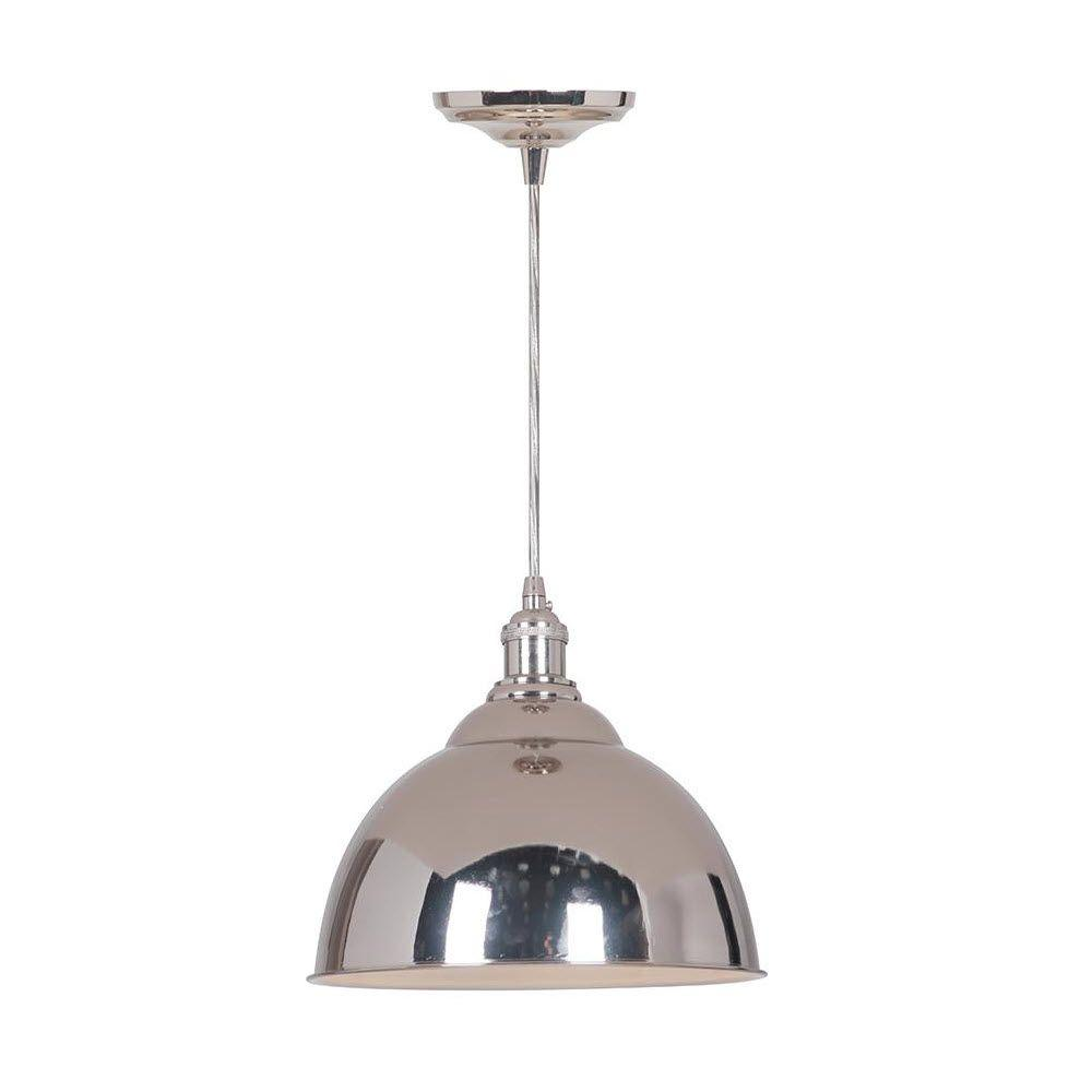 Home Decorators Collection Canady 1 Light Polished Nickel Pendant 2166110220 The Home Depot