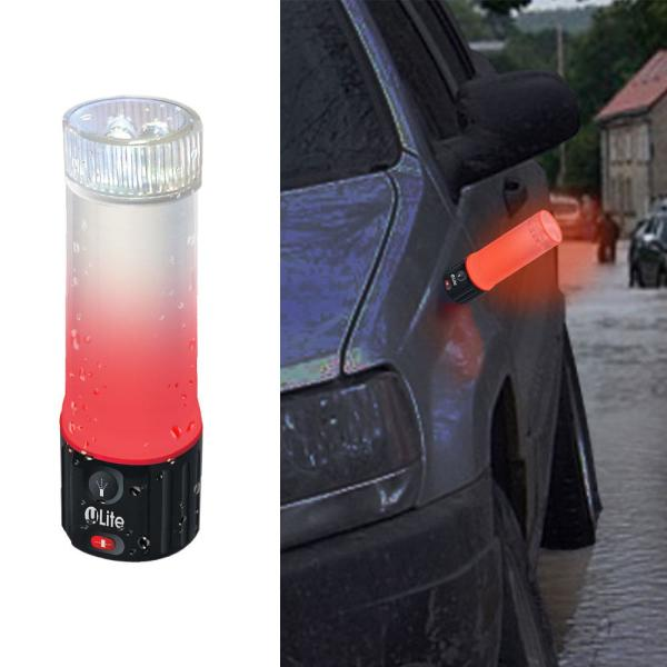 uLight Indoor/Outdoor Waterproof Integrated LED Flashlight and Emergency Light with Magnet