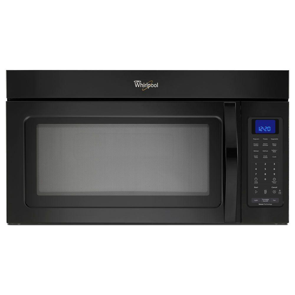Whirlpool 1.7 cu. ft. Over the Range Microwave in Black with Sensor Cooking-DISCONTINUED