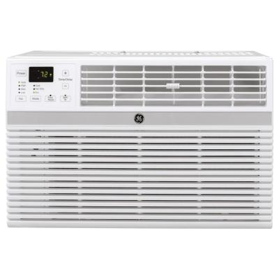 18,000/17,600 BTU 230/208-Volt Smart Window Air Conditioner with Remote in White