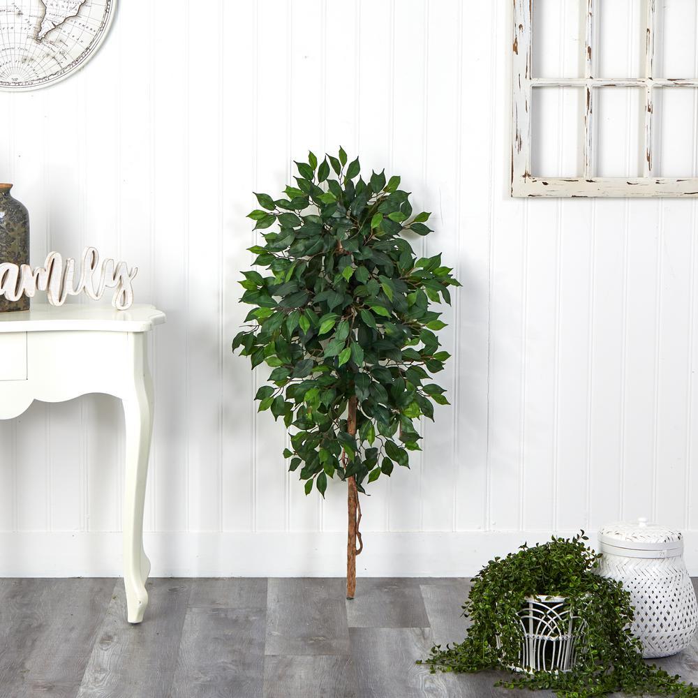 4 ft. Artificial Single Ficus Tree (No Pot)