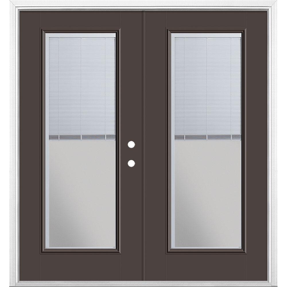 Masonite Wood Steel Mini Blind Patio Door Brickmold