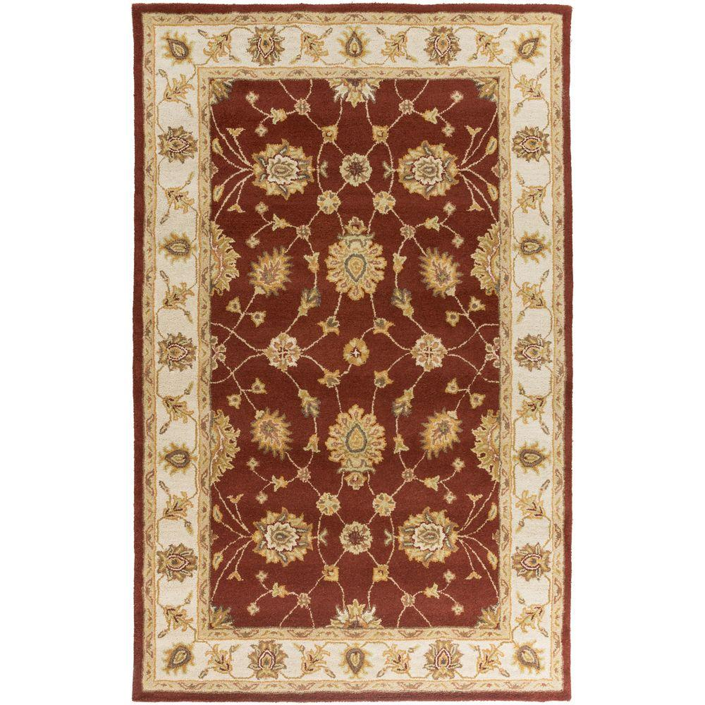 Middleton Hattie Burgundy 5 ft. x 8 ft. Indoor Area Rug