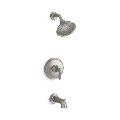 Capilano Single-Handle 3-Spray Tub and Shower Faucet in Vibrant Brushed Nickel (Valve Included)