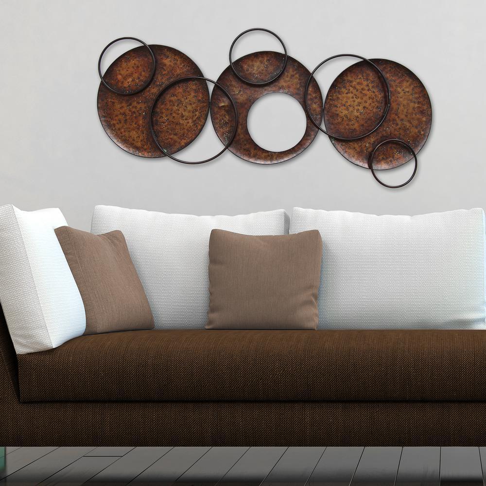 Stratton Home Decor Modern Circles Metal Wall Decor S01230