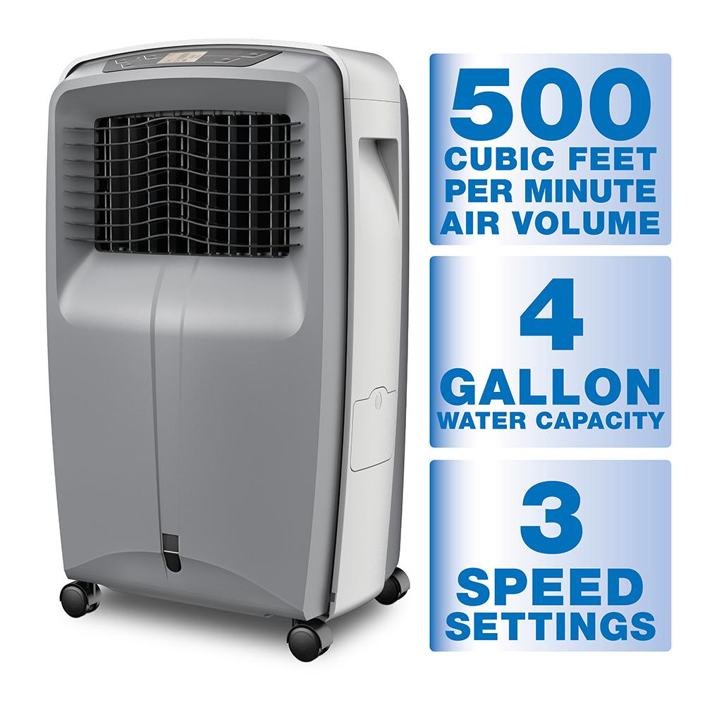 Portable Evaporative Coolers Home Depot : Arctic cove cfm speed portable evaporative cooler