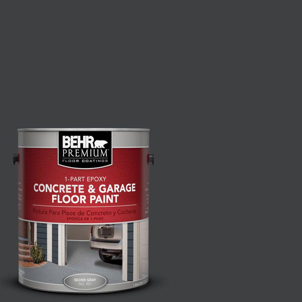 BEHR Premium 1 gal. #PFC-75 Tar Black 1-Part Epoxy Concrete and Garage Floor Paint
