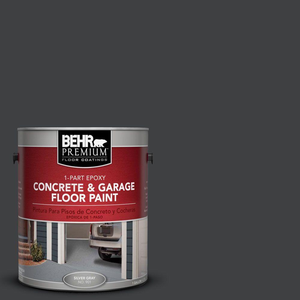 1 gal. #PFC-75 Tar Black 1-Part Epoxy Concrete and Garage Floor Paint