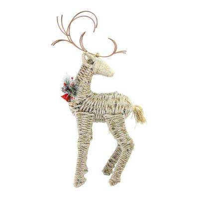 27 in. Reindeer Facing Backwards Twine Christmas Figure