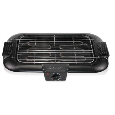 160 sq. in. Black Indoor BBQ Grill with Drip Tray and Cool Touch Handles
