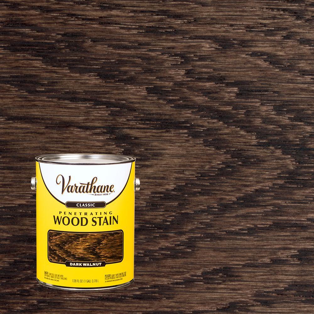 1 gal. Dark Walnut 250 VOC Classic Wood Interior Stain (2-Pack)