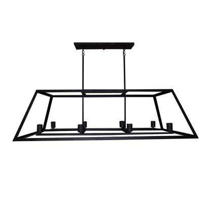 8-Light Ebony Bronze Chandelier