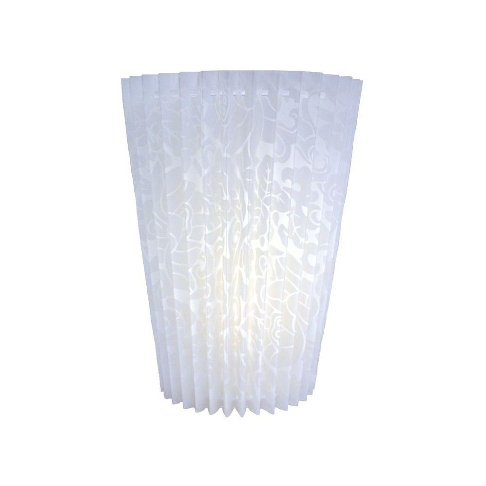 It's Exciting Lighting 5-LED Wall Mount Pleated Faux Fabric Fanfold Battery Operated Sconce