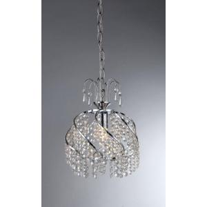 Warehouse of Tiffany Catherine 1-Light Chrome Crystal Chandelier with Shade by Warehouse of Tiffany