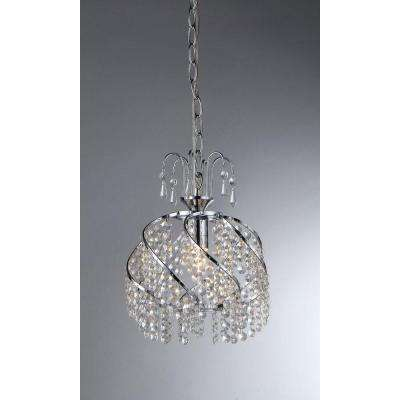 Catherine 1-Light Chrome Crystal Chandelier with Shade
