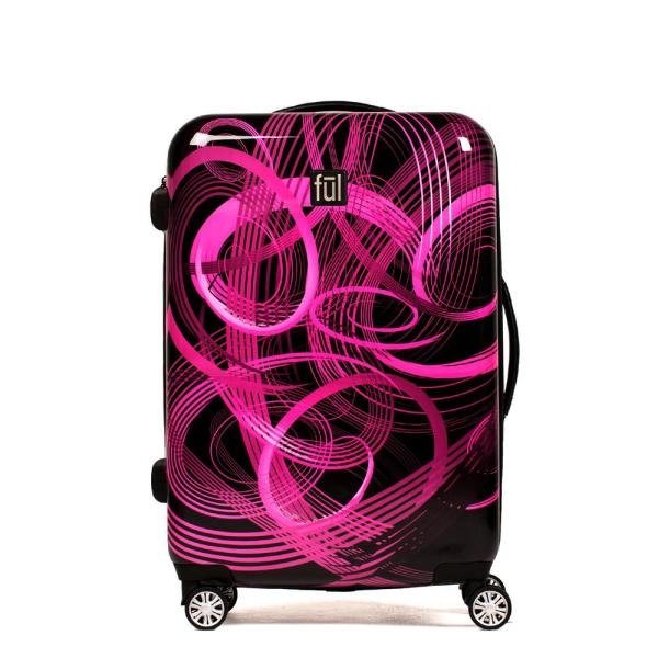 b537e154b Atomic 28 in. Pink ABS Hard Case Upright Expandable Spinner Rolling Luggage  Suitcase