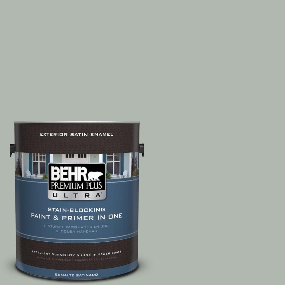 BEHR Premium Plus Ultra 1-gal. #PPU12-14 Verdigris Satin Enamel Exterior Paint