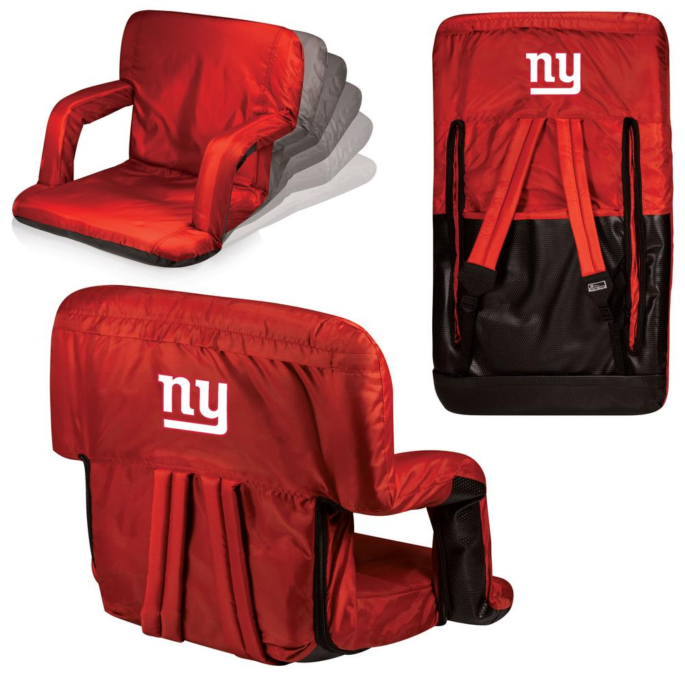 Picnic Time Ventura New York Giants Red Patio Sports Chair with Digital Logo