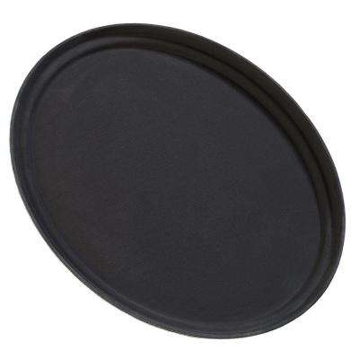 31 in. Griptite Oval Tray in Black (Case of 6)