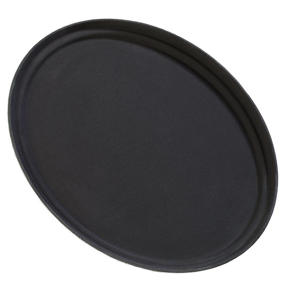 null 31 in. Griptite Oval Tray in Black (Case of 6)