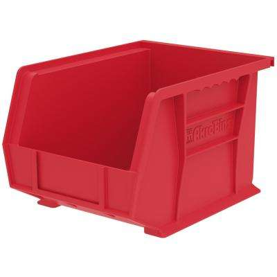 AkroBin 50 lbs. 10-3/4 in. x 8-1/4 in. x 7 in. Storage Tote in Red with 1.8 Gal. Storage Capacity