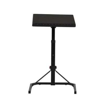 18 in. Black Metal Adjustable Personal Folding Table