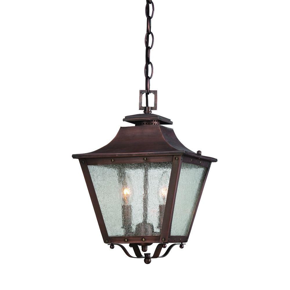Hanging Gas Light Fixture: Acclaim Lighting Lafayette 2-Light Copper Patina Outdoor