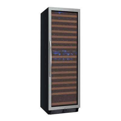 FlexCount Classic II Tru-Vino Dual Zone 172-Bottle Stainless Steel Right Hinge Wine Refrigerator