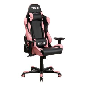Amazing Techni Sport Pink Gaming Chair Rta Ts43 Pnk The Home Depot Machost Co Dining Chair Design Ideas Machostcouk