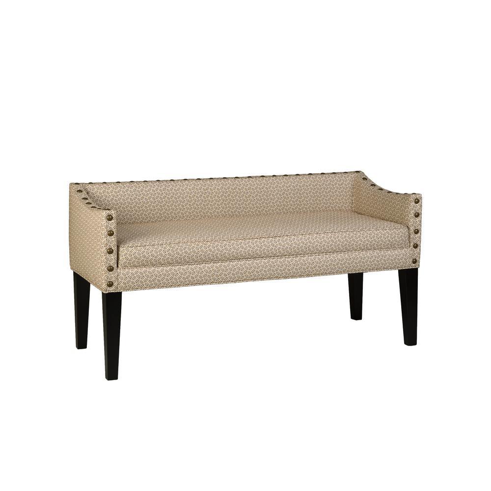 Whitney Upholstered Bench in Rip Rap Lemongrass