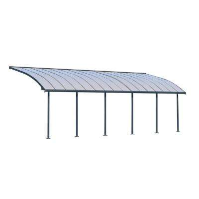 Joya 10 ft. x 30 ft. Grey Patio Cover Awning
