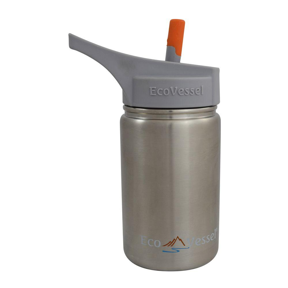 13 oz. Scout Kids Bottle with Straw Top - Silver Express
