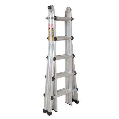 17 ft. Multi-Position Aluminum Ladder with 300 lb. Load Capacity Type IA Duty Rating