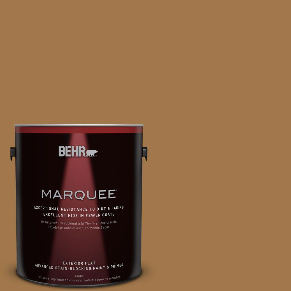 BEHR MARQUEE 1-gal. #S290-7 Wave of Grain Flat Exterior Paint