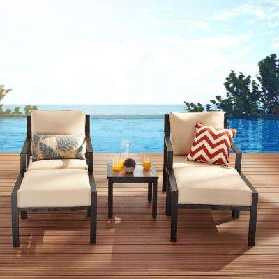 Patio Festival X Back 5 Piece Metal Patio Conversation Seating Set With Beige Cushions Pf20150x2 210 723x2 The Home Depot