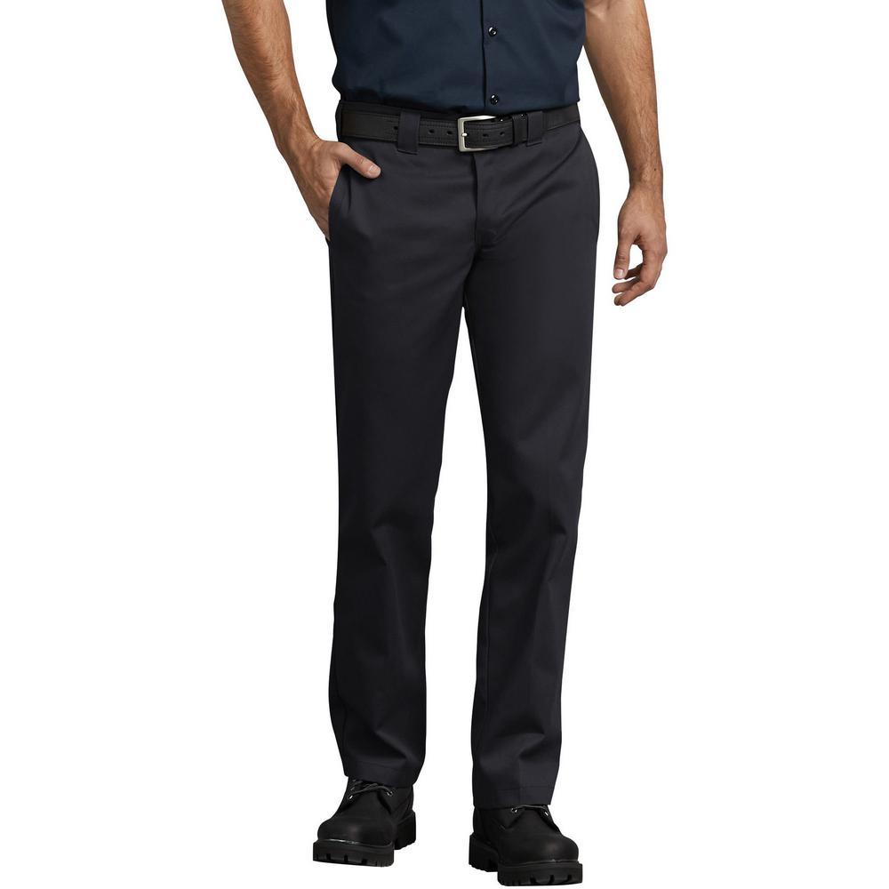 c82c1c1530a Dickies Men s Black Slim Fit Straight Leg Work Pants-WP873BK 40 30 ...