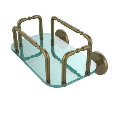 Skyline Wall Mounted Guest Towel Holder in Antique Brass