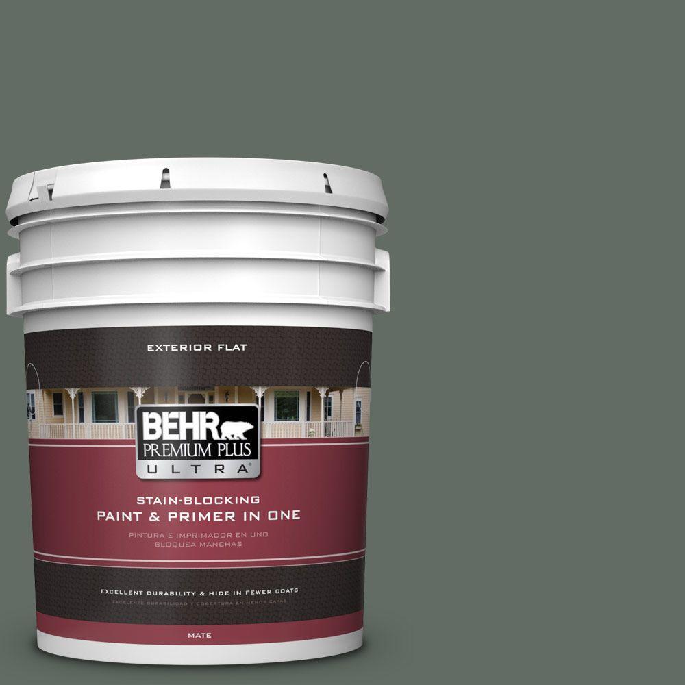 BEHR Premium Plus Ultra 5-gal. #700F-6 Dense Shrub Flat Exterior Paint