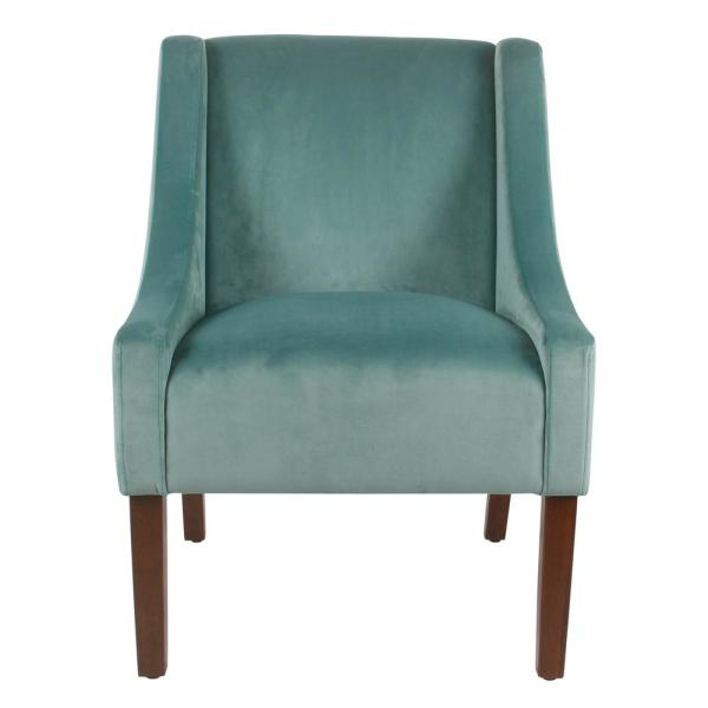 Kinfine Swoop Arm Accent Chair Burgundy Velvet