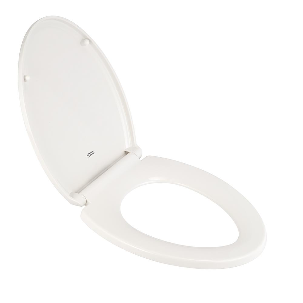 AMERICAN STANDARD Traditional Slow-Close EverClean Elongated Closed Front Toilet Seat in White