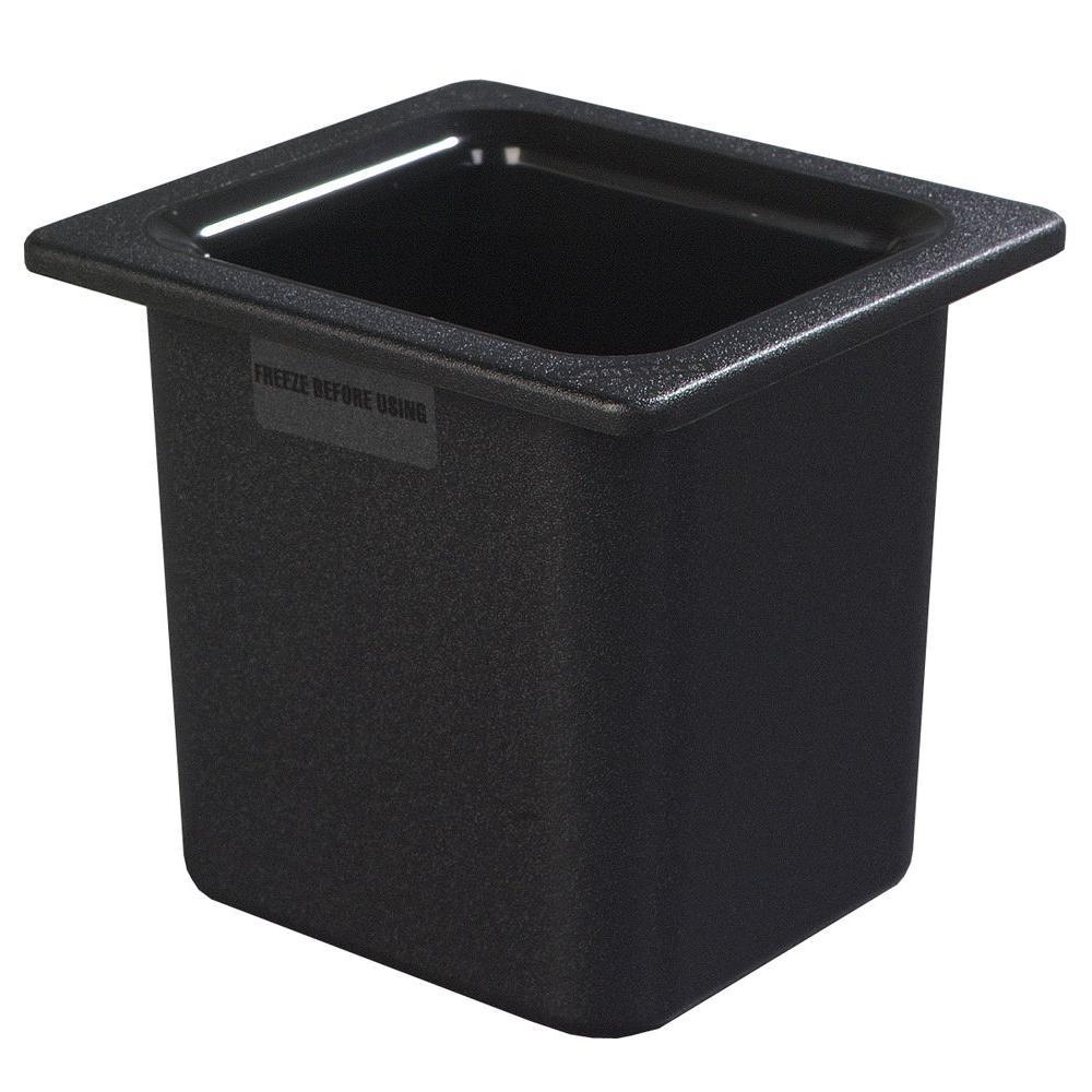 Coldmaster 6 in. Deep High Capacity Standard Sixth Size Food Pan in Black